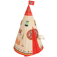 Portable Big Indian Tent Fairy Tale Living Room Game Beach House Camping Children's Tent Toy House for baby gifts цена и фото