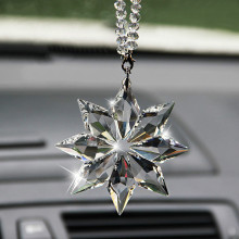 Crystal Christmas Gift Car Pendant Accessories For Honda Civic Accord Fit Crv Hrv Jazz City CR-Z Element Insight MDX S2000 Pilot