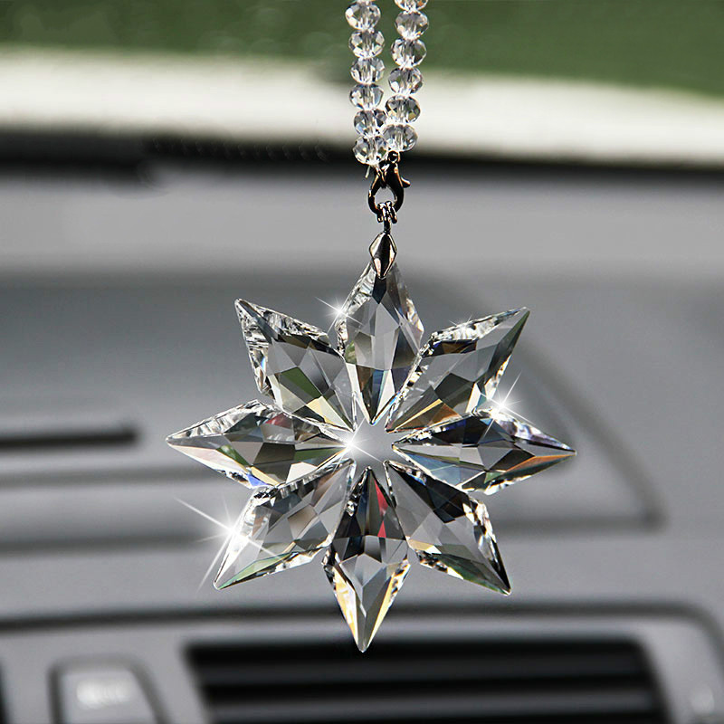 Crystal Christmas Gift Car Pendant Accessories For Nissan Qashqai j11 Juke X trail T32 Tiida Note Almera Primera Pathfinder in Car Stickers from Automobiles Motorcycles