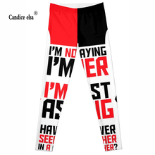 Hot sexy fashion letter cartoon leggins pants digital printing of leggings-limited for women drop shipping