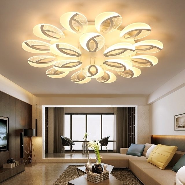 Modern LED Ceiling Chandelier Lighting Dining Room Plafond Avize Indoor  Ceiling Lamp Bedroom Living Room Chandelier