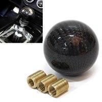 Black Carbon Fiber 5 6 Speed MT Fit Manual Transmission Gear Shift Knob Shifter
