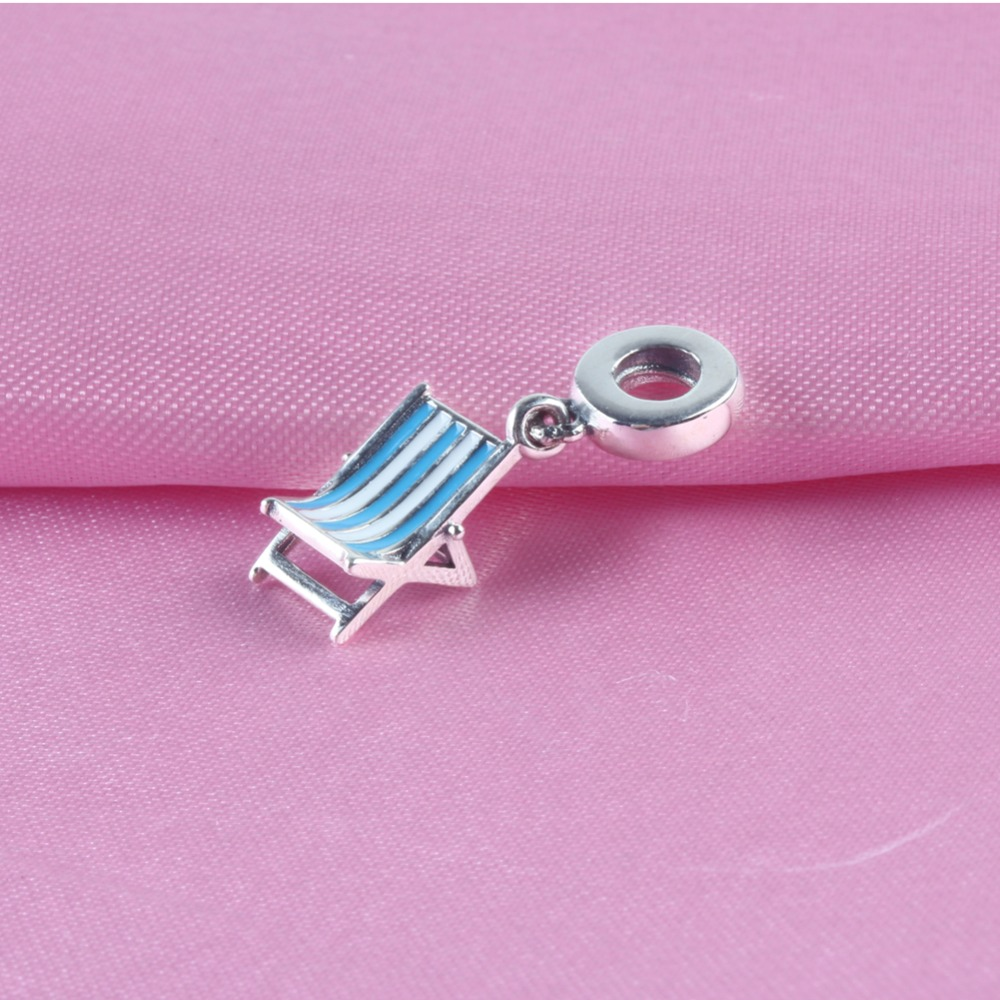 Rational Zmzy Brand Unique Design Beach Chair Pendants 925 Sterling Silver Charms Beads Fit Pandora Charm Bracelet Bangles Women Jewelry Keep You Fit All The Time Jewelry & Accessories Beads