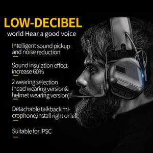 Image 3 - Tactical Headset Hunting Airsoft Headphone with Noise Reduction Canceling Camouflage Military Combat Shooting Headset