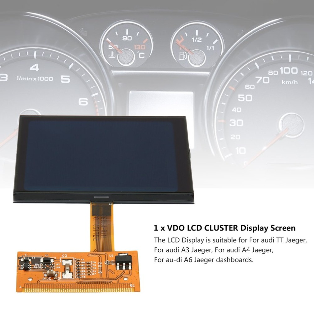 TT LCD Display Screen For VW Audi TT Jaeger New VDO FIS Cluster LCD Display Screen For Audi A3 A4 A6 Super Quality