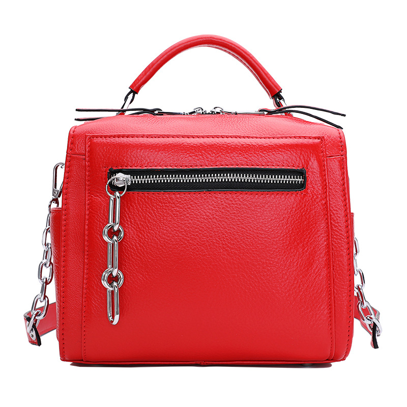 1052 New Fashion Women Handbag Top Layer Leather Boston Bag Chain Handheld Single Shoulder Bags Satchel Real Leather Bag1052 New Fashion Women Handbag Top Layer Leather Boston Bag Chain Handheld Single Shoulder Bags Satchel Real Leather Bag