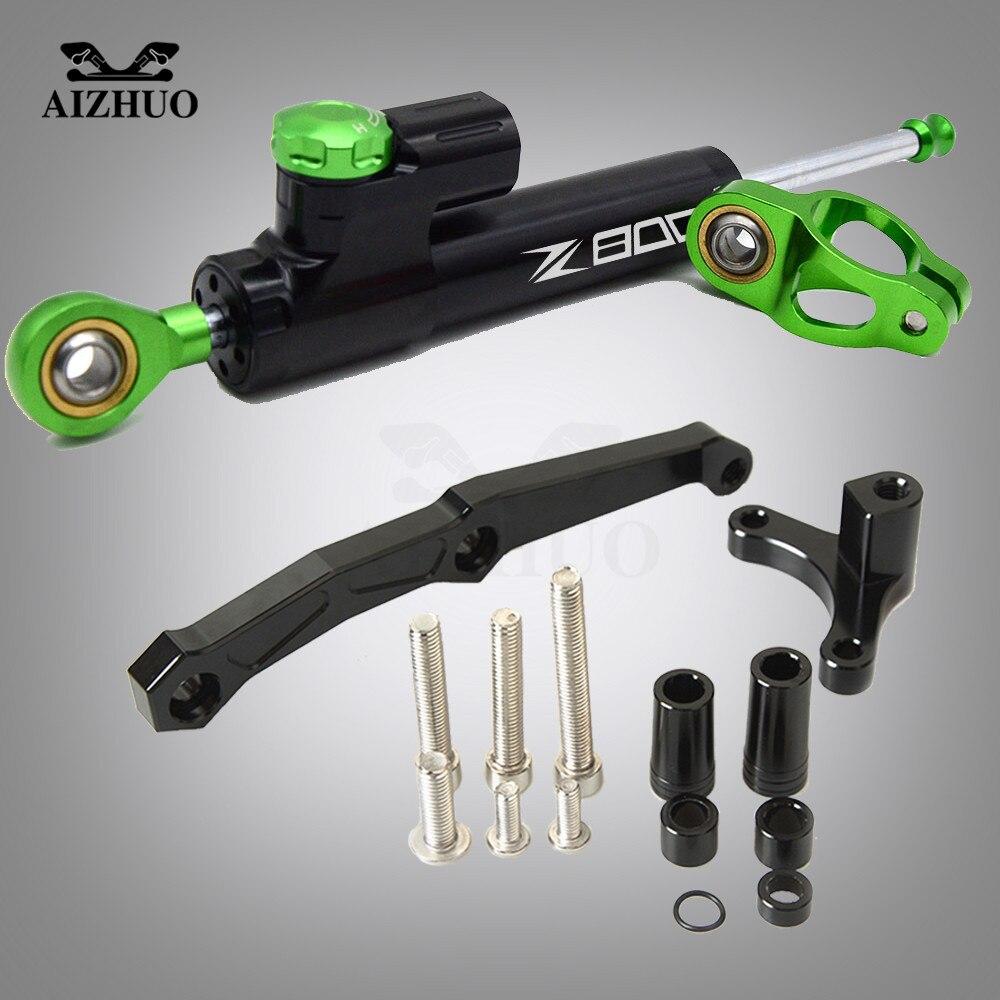 For KAWASAKI Z800 Z 800 2013 2014 2015 2016 2017 2018 Motorcycle Damper Steering Stabilize Safety Control Bracket Mount kit