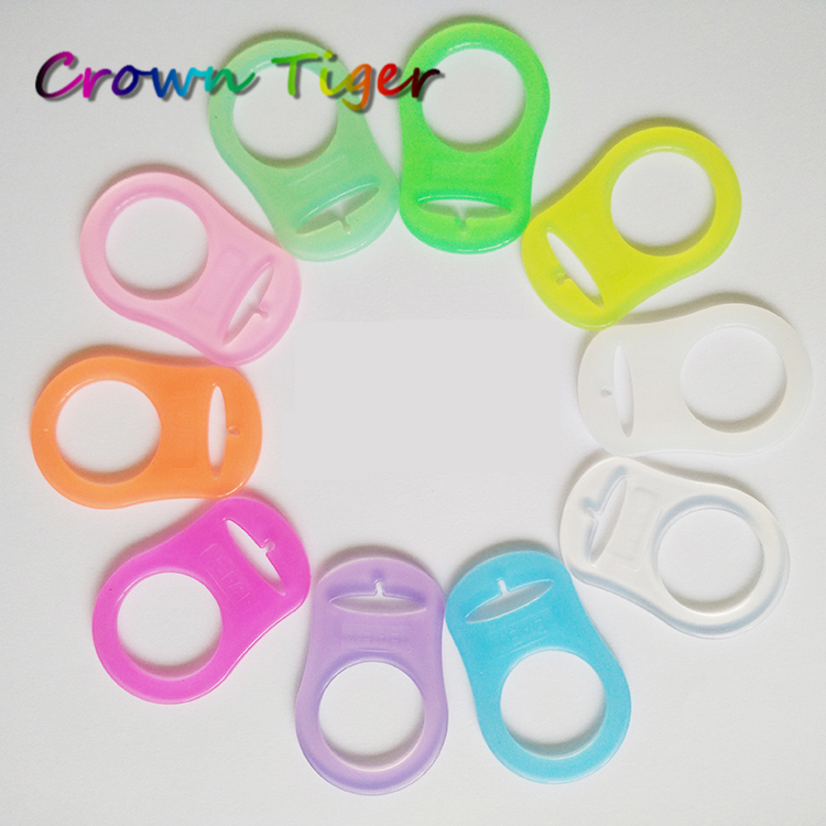 MAM Style Silicone Dummy Adapters Clip Ring Chain