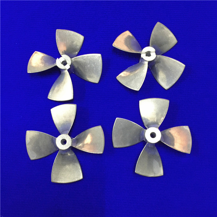 CW+CCW Alloy High Hardness 4-blades Propellers Prop 55mm Diameter with 4mm Hole Simulation Model Ship Accessories Spare Parts 10pcs diameter 57 60mm 2mm hole 4 blade propeller plastic blades toy accessories diy model accessories technology model parts