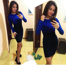 SIMIN Woman's Mini Full sleeve print Dress