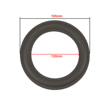 GHXAMP 8 дюймов 195 мм 130 мм кольцо из вспененного материала для динамика для серии 201 301, кольцо из вспененного материала для динамика, ремонтные аксессуары, сделай сам, губка, край пузыря, 1 пара