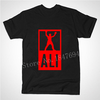 New Summer Mens MUHAMMAD ALI Boxing T Shirts Men Sport Fitness Casual Man Clothing MMA Short
