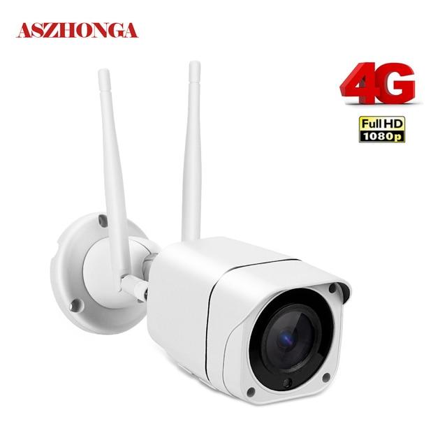 3G 4G SIM Card Wireless IP Camera Outdoor 1080P Bullet Wifi Camera IR Night Vision Home Security Surveillance H.265 Format Cam