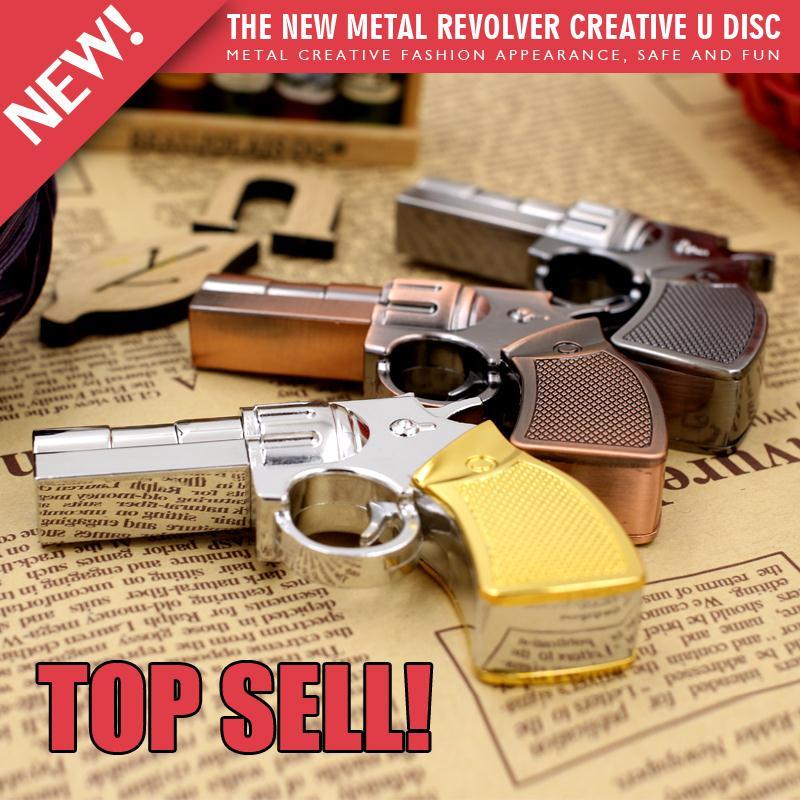 Toy metal gun model usb flash drive usb stick pen drive 4gb...