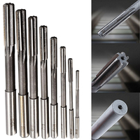 8pcs Set HSS H8 Machine Reamer Straight Shank Chucking Reamers Set Cutter Tool 3 4 5