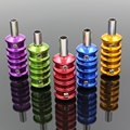 5PCS Aluminum Alloy Tattoo Grips 22MM With Back Stem 5 Colors Tattoo Grip For Tattoo Machine Supply Free Shipping