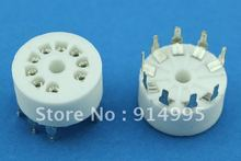 Free Shipping 10PCS GZC9 Y 3 B9A new 9 pin tube sockets ceramic base suitable for