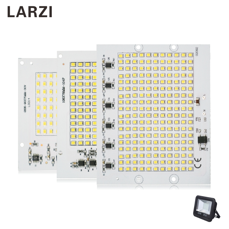 LARZI LED Chips 220V Lamp SMD Bulb 2835 5730 Smart IC Led Light Input 10W 20W 30W 50W 90W For Outdoor FloodLight Spotlight