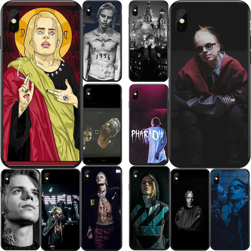 Pharaoh and homeless god Soft silicone TPU Tampa da Caixa Do Telefone Shell Para O IPhone 4 5 6 7 8 X XR Plus Coque Farao rapper