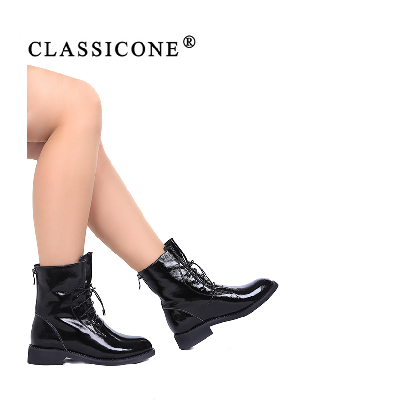 Marque Style Décontracté Cuir Véritable Sexy De Appartements Luxe Femme Noir Bottines En Automne Femmes Mode Classicone 2019 Chaussures Printemps AgaAOB