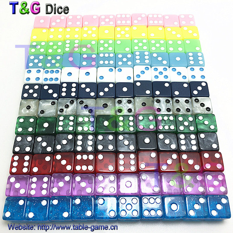 10pcs/set high quality 12mm dice set navy blue d6 standard dots gambling accessories small novelty dice