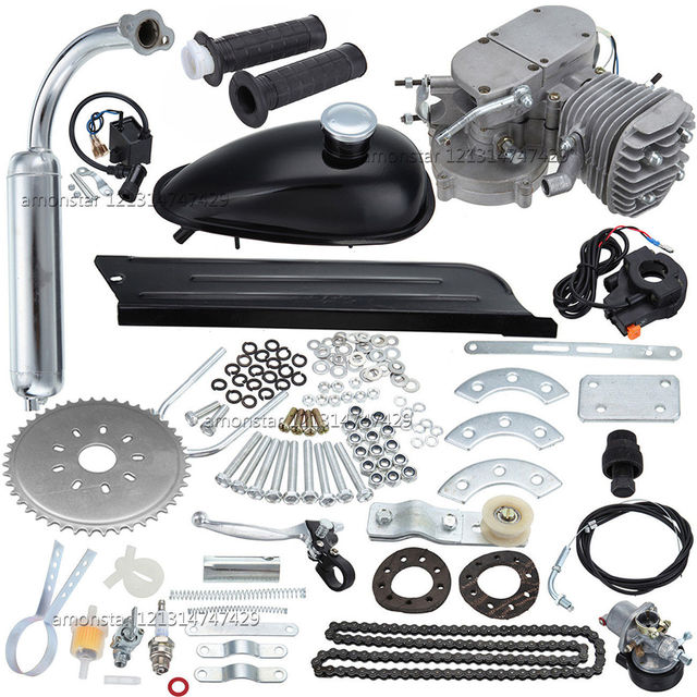 """New fit 26""""/ 28"""" Bicycle 80cc 2 Strokes Motorized Gas Engine Bike Motor Kit"""