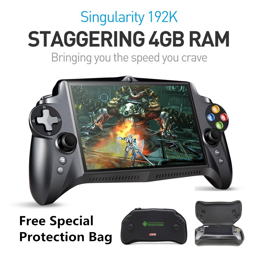 JXD S192K 7 inch 1920X1200 Quad Core 4G/64GB New GamePad 10000mAh Android 5.1 Tablet PC Video Game Console 18 simulators/PC Game image
