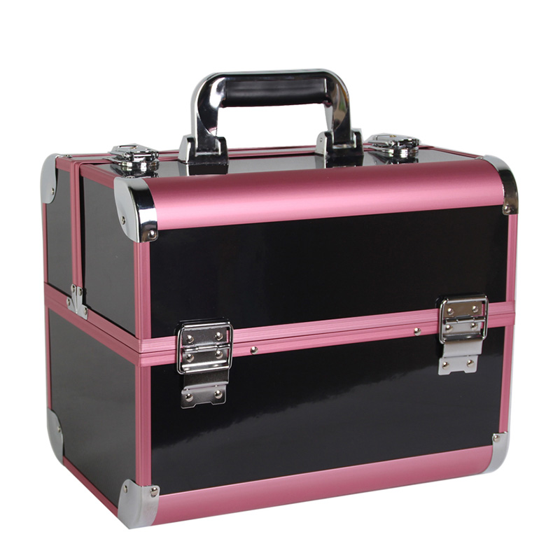 New Arrival Large Make Up Organizer Storage Box,Cosmetic Organizer Suitcase,Women Makeup Box Container Travel Cosmetic Bag Cases new arrive hot 2pc set portable jewelry box make up organizer travel makeup cosmetic organizer container suitcase cosmetic case