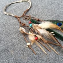 цены Fashion Festival Feather Headband Hippie Headdress Hair Accessories New Boho