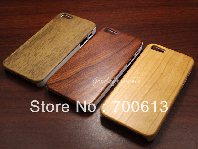 New PC Wood Wooden Hard Case Cover for Phone 5