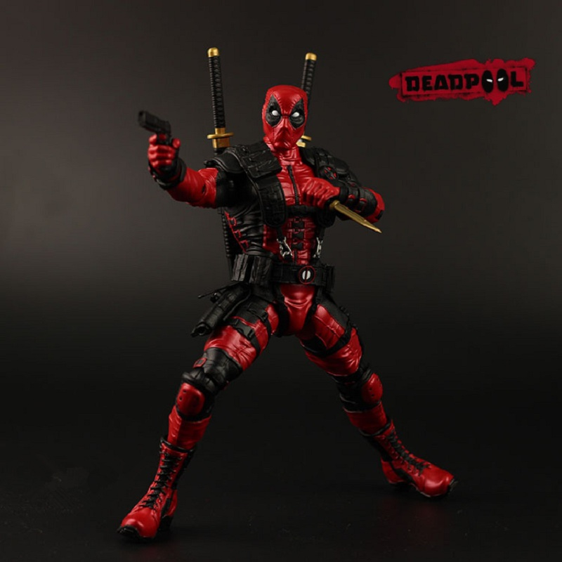 New arrive 10 25cm Avengers Super Hero Justice league X-MAN Deadpool Action Figure Toys With Retail Box Collection Model gift new hot 10cm spider man avengers super hero action figure toys spiderman doll christmas gift with box