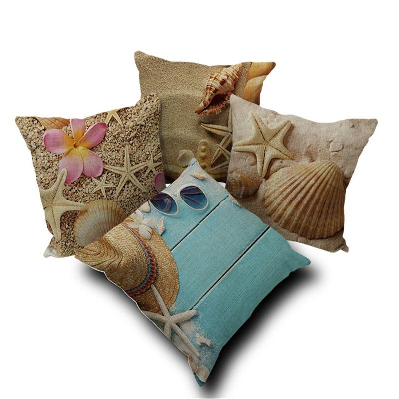 Modern Home Gel Pillow : Aliexpress.com : Buy Modern Home Throw Pillows Cushion Covers Sea Stars Shell Sea Side Capa De ...