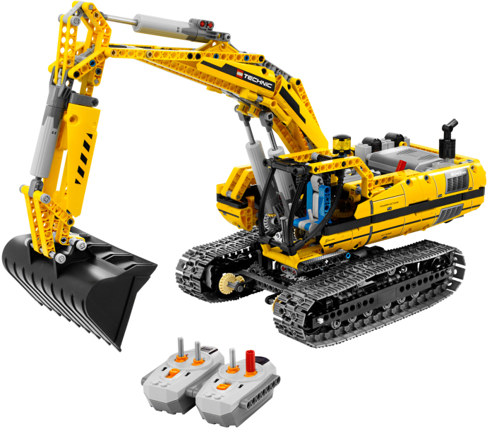 Technic Series 1123pcs Excavator Model Building blocks Bricks Compatible Toy Gift 8043 Compatible Legoings Technic loz smartable technic series red excavator diy building brick blocks toys compatible with legoingly technic car gift toy to kid