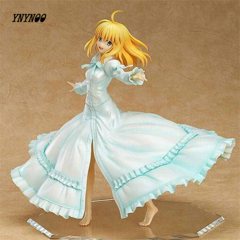 YNYNOO Fate Stay Night 5 Edition Saber Action Figure 1/7 scale painted figure Last Episode Saber PVC ACGN Brinquedos Anime fate stay night unlimited blade works king of knights saber 1 7 scale pre painted figure collectible toy 25cm