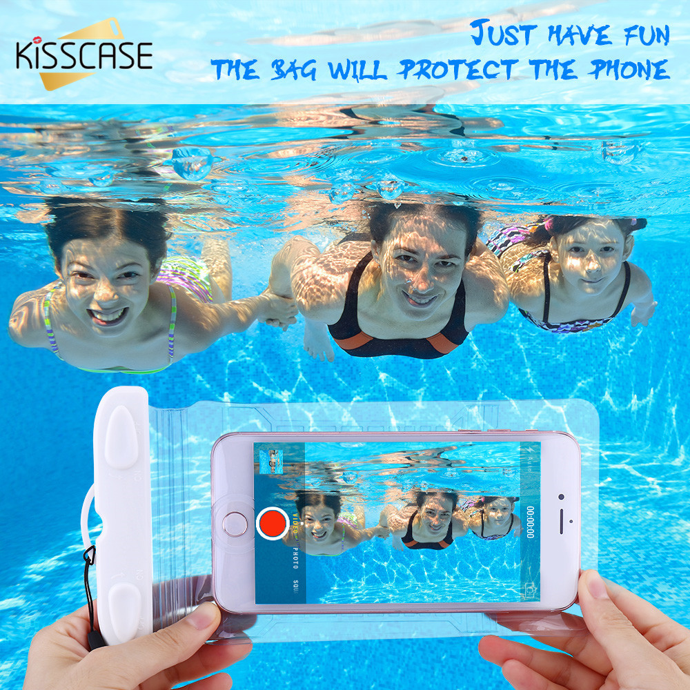 KISSCASE Swimming Waterproof Case For iPhone 7 6 S 8 Plus 5 5S SE Underwater Bag Waterproof Cases For Xiaomi Redmi Note 4X 5 5A