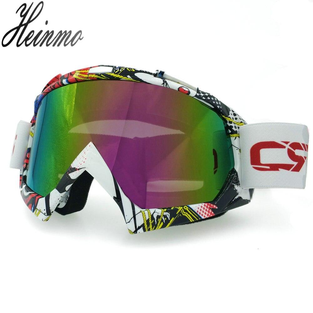 Heinmo 100% Nauji 'Motocross' akinių stiklai 'Oculos Gafas' motociklų akiniai