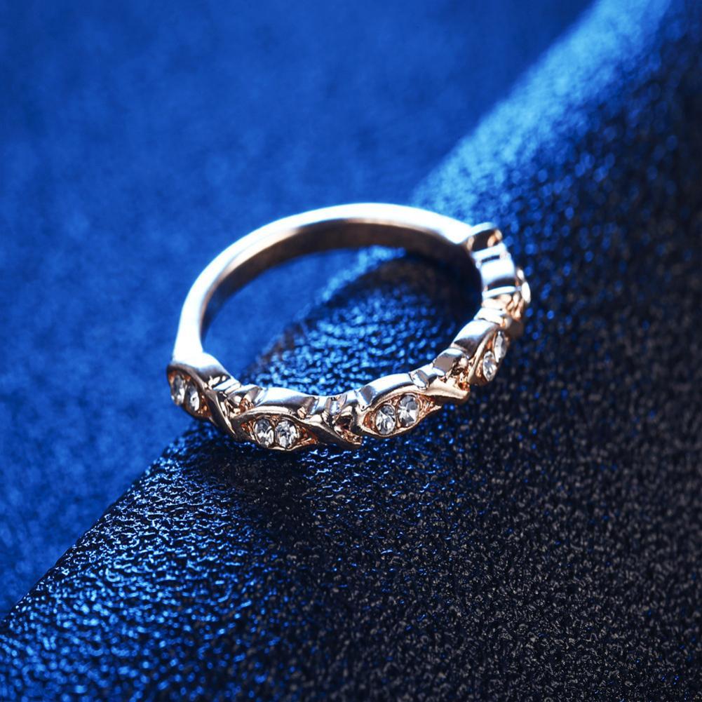 Для женщин стекируемые обещание горный хрусталь кольцо Обручение Юбилей обручальное пода ...