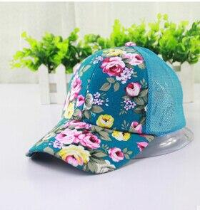 50 шт./партия Federal Express быстро китайский национальный стиль дышащая шляпа от солнца шляпа летние спортивные Цветочные бейсболки на открытом воздухе - Цвет: light blue