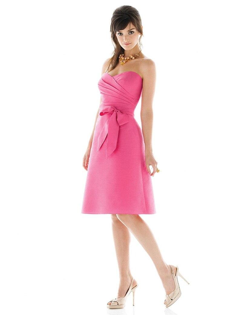 Vestidos Sexy sans bretelles dos nu robe de bal courte robe de demoiselle d'honneur pour la fête de mariage sur mesure