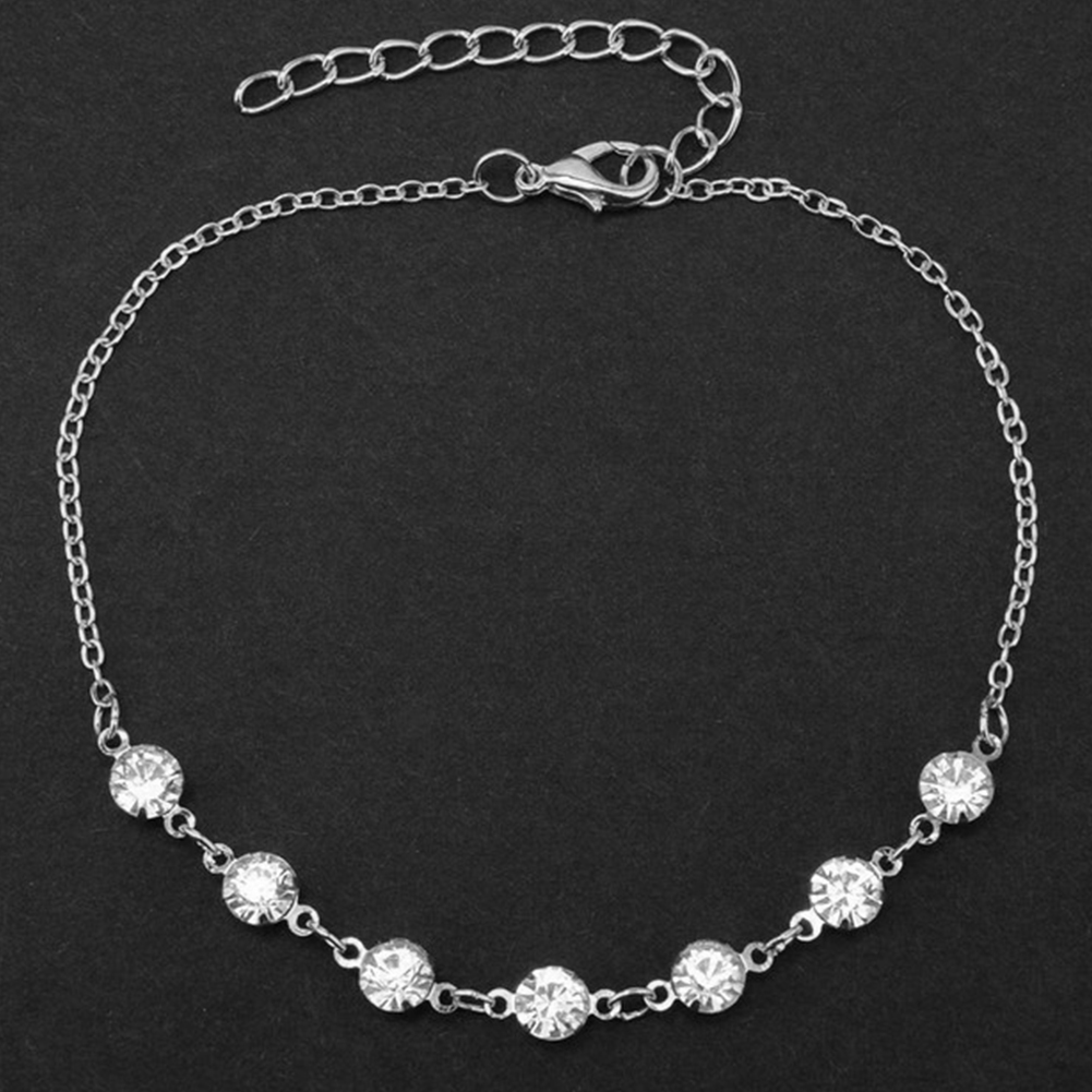 Charming Crystal Bracelet Bride Jewelry Anklet For Women Girl Ankle Leg Foot Jewelry Chain