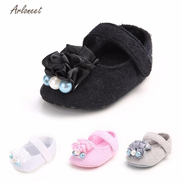 44353f787658c ARLONEET Fashion babies shoes soft baby shoes girls Boys Flower Pearl Solid  Anti-slip Soft Princess Shoes Sneaker DE29