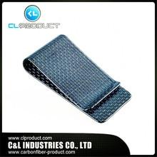 Real Carbon Fiber Blue – Genuine 3K Twill Credit Card Business Credit Card Cash Wallet L glossy Money Clip