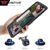 Anstar 10 4G зеркало заднего вида Видеорегистраторы для автомобилей 4CH Камера s Android 8 Core видео Регистраторы HD 1080 P автомобиля камера ADAS gps регистра