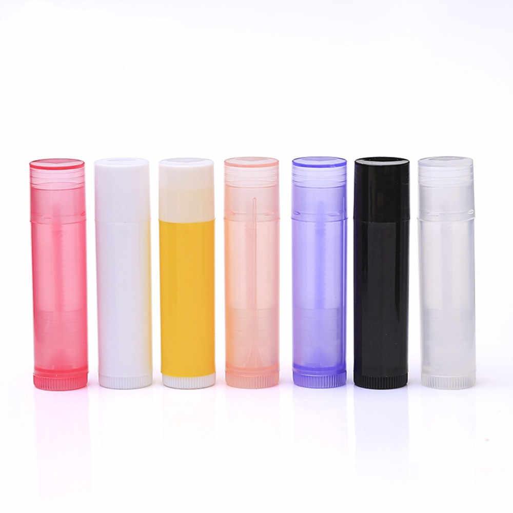 5 個リップクリーム空ボトルチューブ 5 ミリリットルの lipbalm プラスチックパイプチューブカラフルなファッション口紅化粧品容器ローション