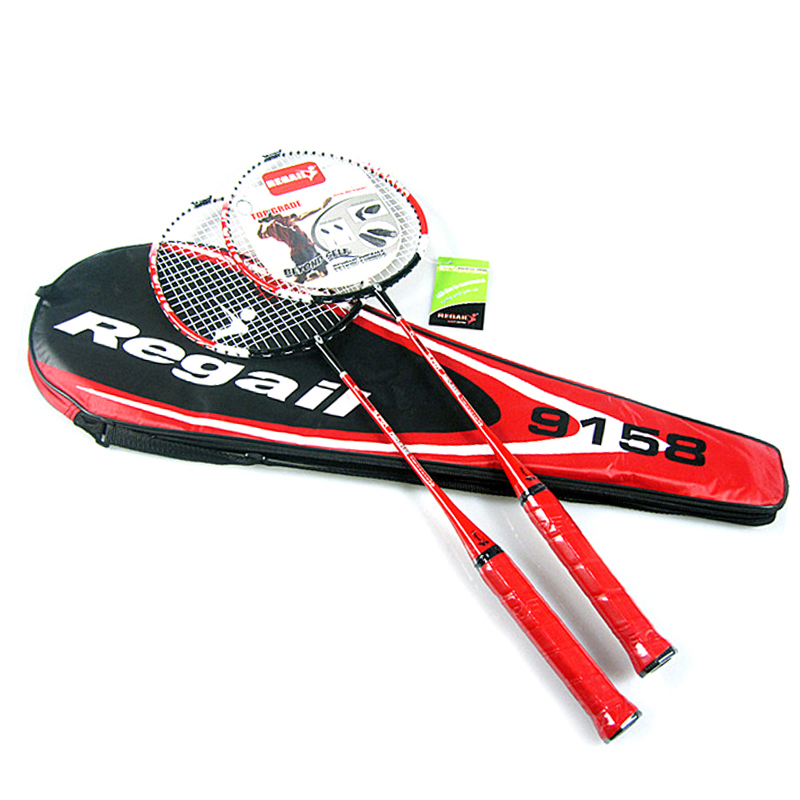 1 Pair Regail 9158 Light Weight Durable Fast Speed Badminton Racket Battledore Racquets + 1 Badminton Bag