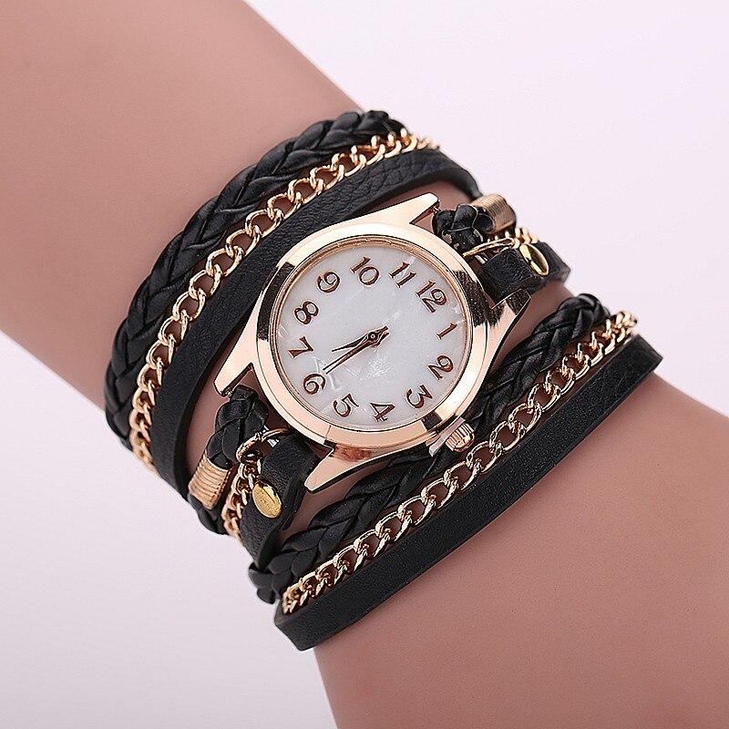 2016 Fashion quartz watch Casual Wrist watch women Leather Bracelet Women Watches Relogio Feminino free shipping