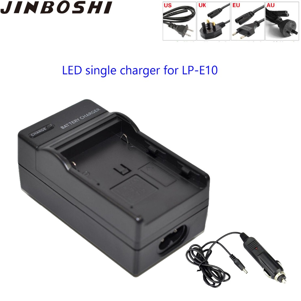 Jinboshi Lp-e10 Lp E10 Lpe10 Lithium Batteries Led Single Charger For Canon 1100d Kiss X50 Rebel T30 Z1 Skilful Manufacture Chargers