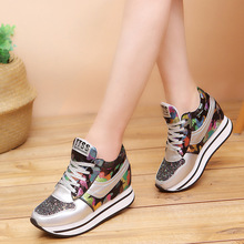 Fashion womens shoes breathable new wild thick platform wedge non-slip casual sports