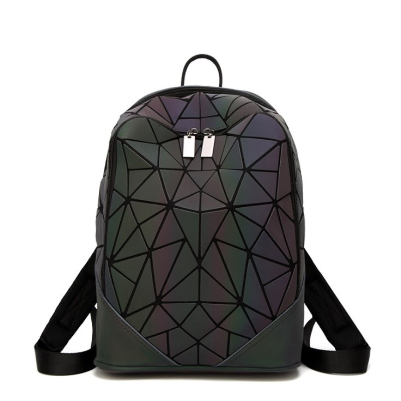 Fashion Women Backpack Pvc Geometric Luminous Backpack New Travel Bags For School Back Pack Holographic Backpacks