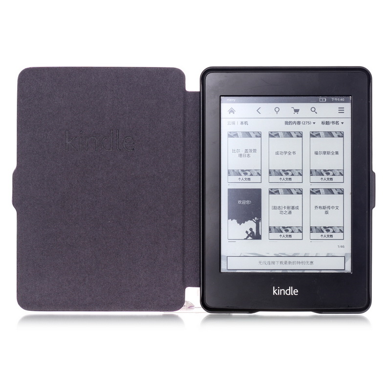 Classic Book Cover For Kindle ~ Smart cover for kindle paperwhite case pu leather